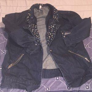 Jackets & Blazers - Vintage jean jacket with spikes